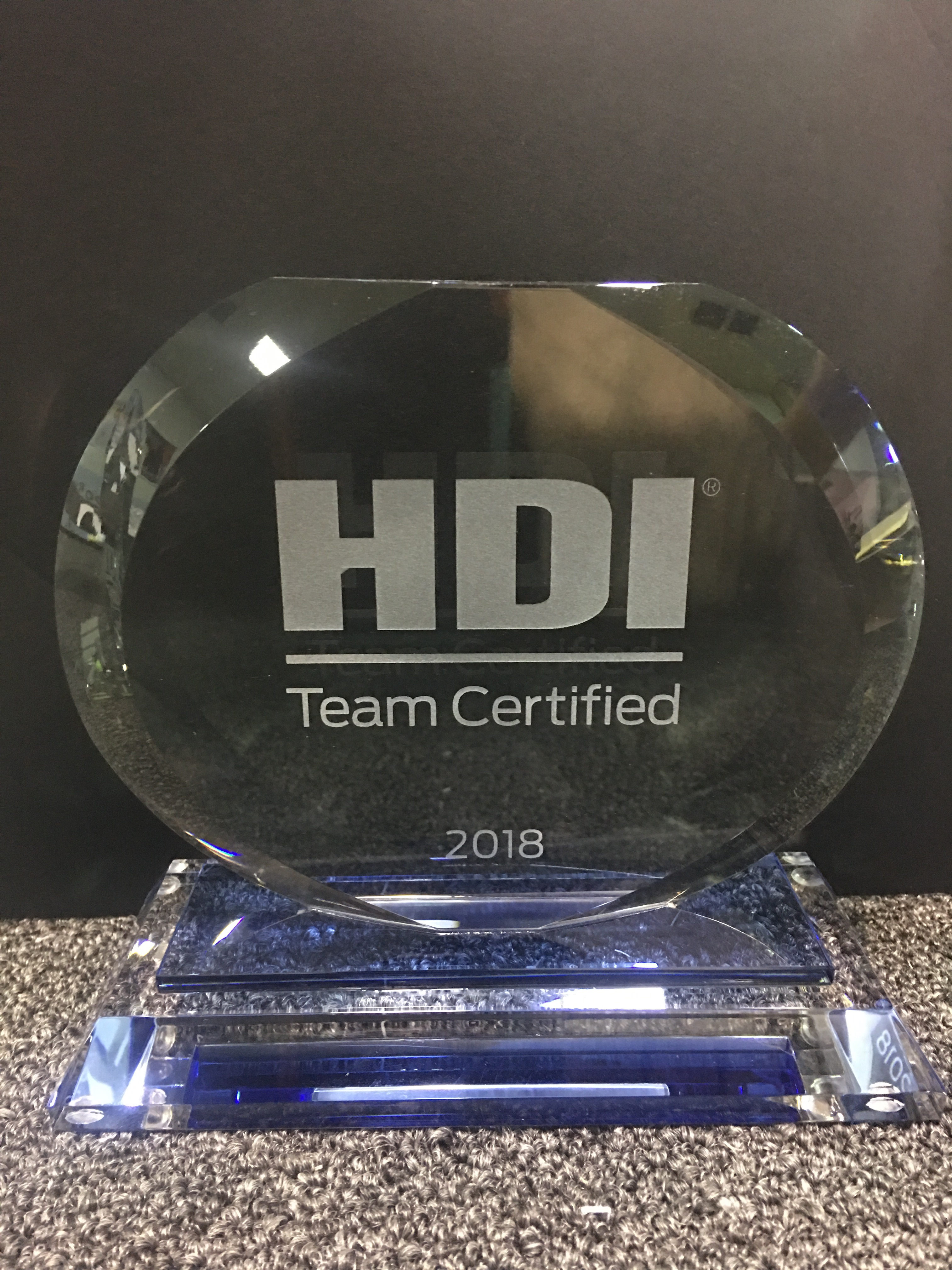 Team Certified Award