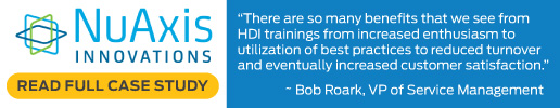 HDI Support Center Best Practices Assessment