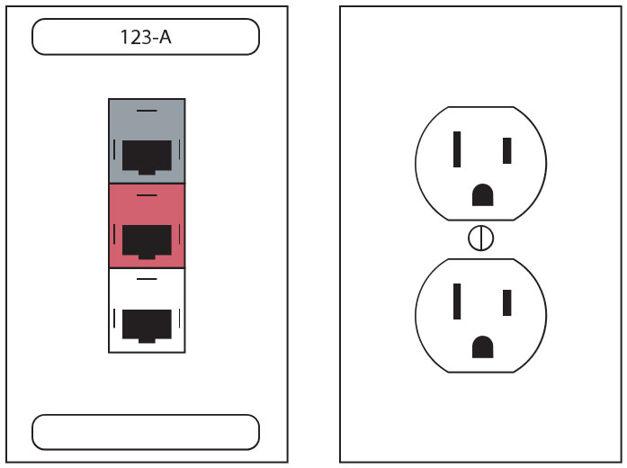 network plug, power outlet, IT