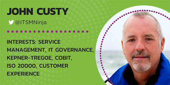 John Custy, ITSM, Service Management