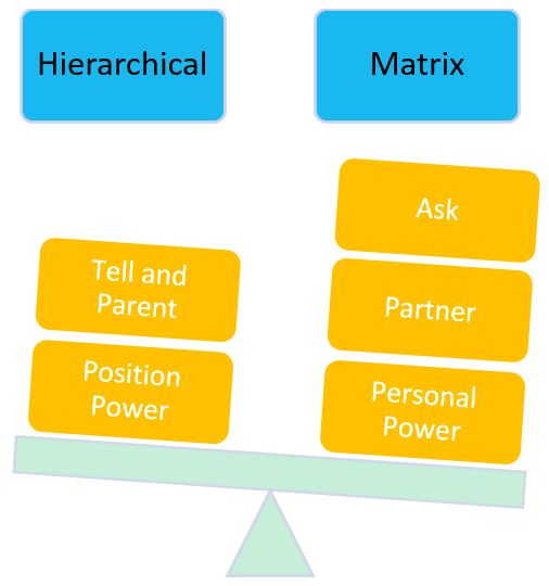 matrix management, hierarchical management