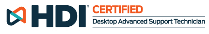 HDI Certified | Desktop Support Technician