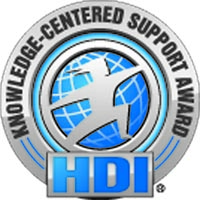 HDI Knowledge-Centered Support Award